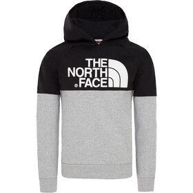 The North Face Drew Peak Raglan Pullover Hoodie Jungs tnf light grey heather/tnf black